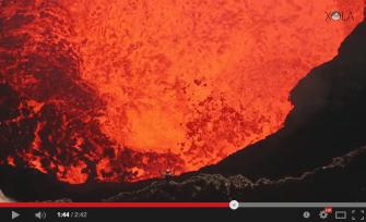 Au coeur d'un volcan…