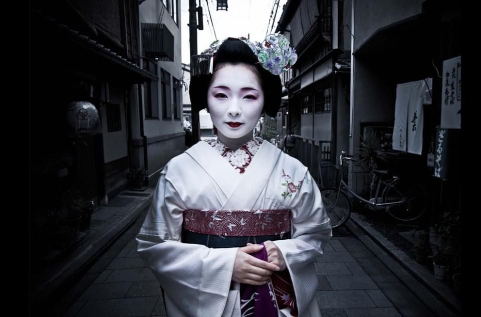 Une apprentie Geisha à Kyoto.