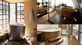 Une salle de bain japonaise