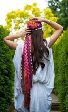Accessoire de cheveux tendance, le foulard 8