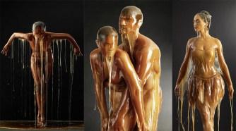 Le photographe Blake Little recouvre ses modèles de miel