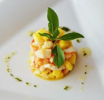 Un diner aux chandelles : Le tartare de crevettes aux parfums d'Asie