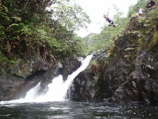 Le saut de la mort, au lieu dit Te Ana Opae (8e gué)
