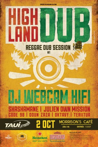 Webcam Hifi – Dub sound session au Morrison's Café avec Taui Fm