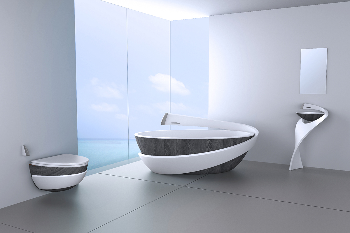 baignoire-salle-de-bain-moderne - Moving Tahiti