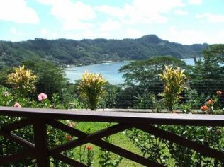 la vue du bungalow