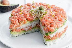 Le sushi cake 01