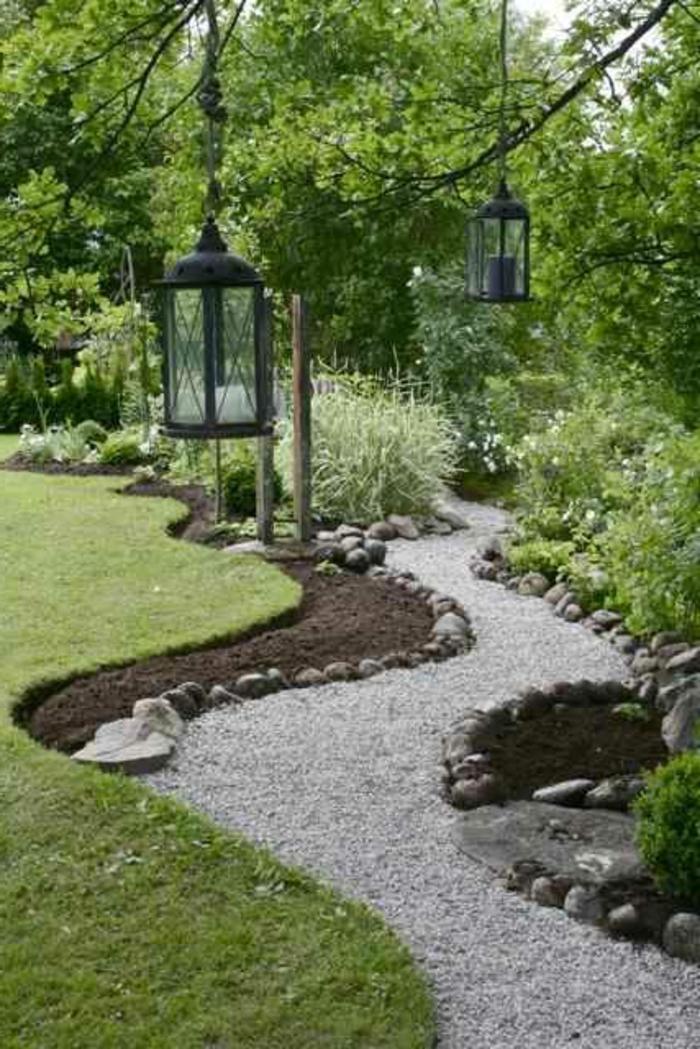 allee avec galets decoratifs revetement sol exterieur pas cher pour votre allee de jardin. Black Bedroom Furniture Sets. Home Design Ideas