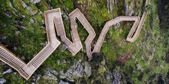 Une passerelle en bois pour un voyage inoubliable à travers les superbes paysages naturels Portugais