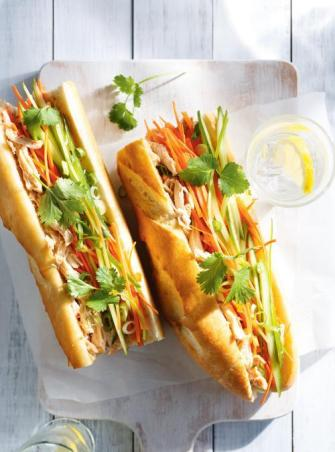 Sandwich au poulet façon vietnamienne