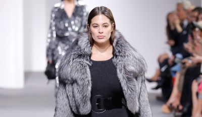 A model walks the runway during the Michael Kors Collection Fall 2017 fashion show at Spring Studios on February 15, 2017 in New York City.