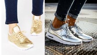 Les baskets métallisés : La tendance shiny