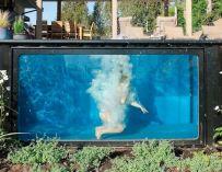 Une piscine faite à partir d'un container