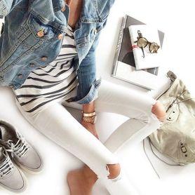 Comment bien porter le jean blanc 03