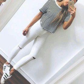 Comment bien porter le jean blanc 10