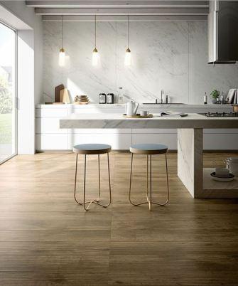 Carrelage imitation bois : la beauté du bois, la solidité du grès cérame