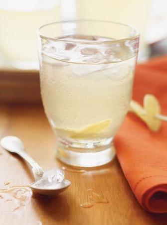 Thé vert glacé au gingembre et au miel