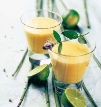 Cocktail mangue, coco et citron vert
