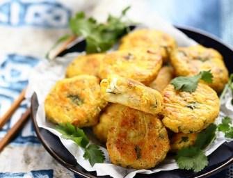 Croquettes de poisson thaïes au curry vert et à la coriandre