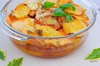 Gratin de patates douces et tomates