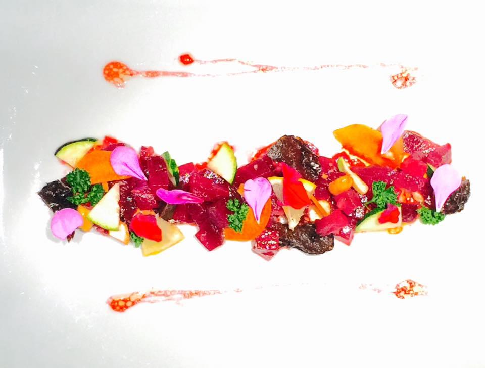 Salade de betteraves et sa sauce asiatique