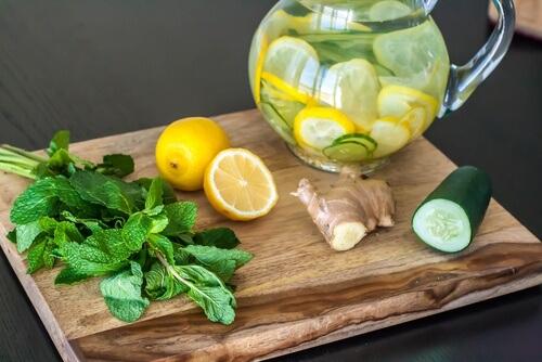 eau concombre citron gingembre