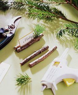Une table raffinée au décor rustique chic pour Noël 13