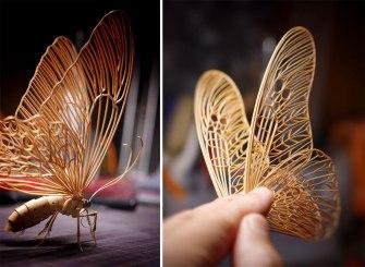 Les incroyables sculptures en bambou de l'artiste japonais Noriyuki Saitoh