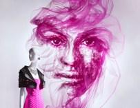 La beauté à l'état pur : L'artiste britannique Benjamin Shine crée des portraits époustouflants à partir de tulle