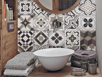 Des mosaïques dans la salle de bain, chicissime !