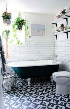 Mosaique Noir et blanc - salle de bain (15)