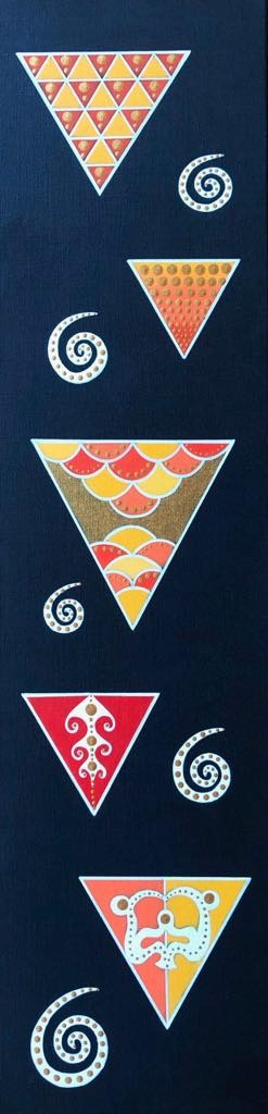 Pluie de Triangles Polynésiens
