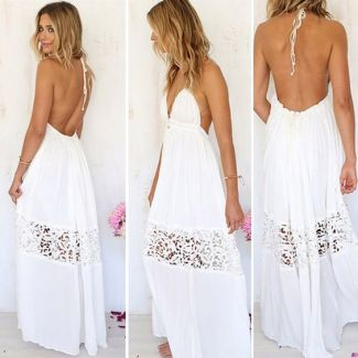 ROBE LONGUE BLANCHE BRODERIE ANGLAISE (1)