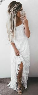 ROBE LONGUE BLANCHE BRODERIE ANGLAISE (2)