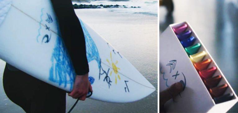 Surf – Rip Curl lance les crayons en wax pour décorer sa planche