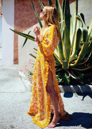Belle en robe longue 07