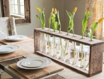 Un joli vase en verre et en bois facile à réaliser