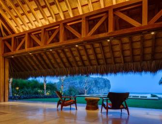Superbe villa au design exotique sur la côte du mexique