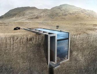 La Casa Brutale, une maison incroyable incrustée à flanc de falaise