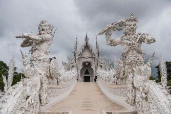 Le temple blanc de Thaïlande