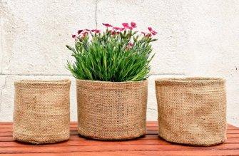 DIY : Comment réaliser un cache pot en toile de jute ?