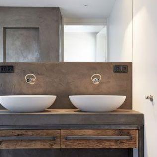Salle de bain en béton et en bois (13)