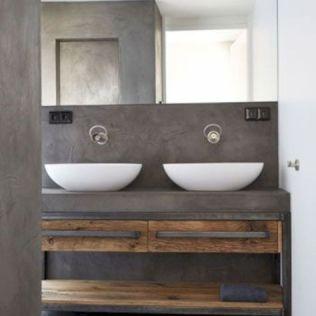 Salle de bain en béton et en bois (15)