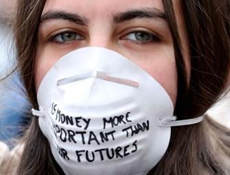 Les photos des protestations contre les changements climatiques dans le monde entier