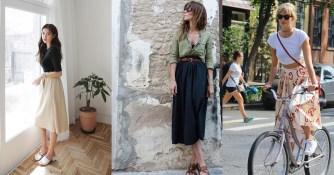 Jupe mi-longue : les plus beaux modèles pour une silhouette parfaite !