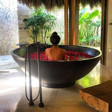 Une baignoire en extérieur (10)
