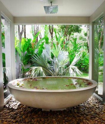 Une baignoire en extérieur (5)