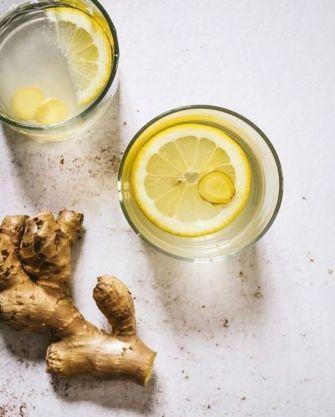 Boisson detox : eau de gingembre citronnée