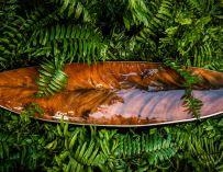 Ce shaper recycle les vieilles planches de surf pour leur donner l'apparence du bois
