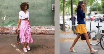 Comment porter une robe avec des baskets ?